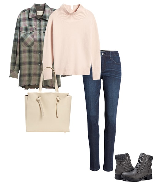 Combat boots with jeans | 40plusstyle.com