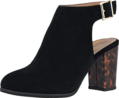 Vionic Perk Lacey Ankle Strap Bootie  40plusstyle.com