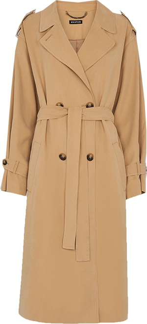 Whistles neutral trench coat | 40plusstyle.com