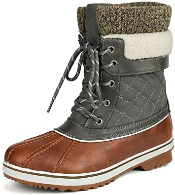 DREAM PAIRS Mid Calf Winter Snow Boot   40plusstyle.com