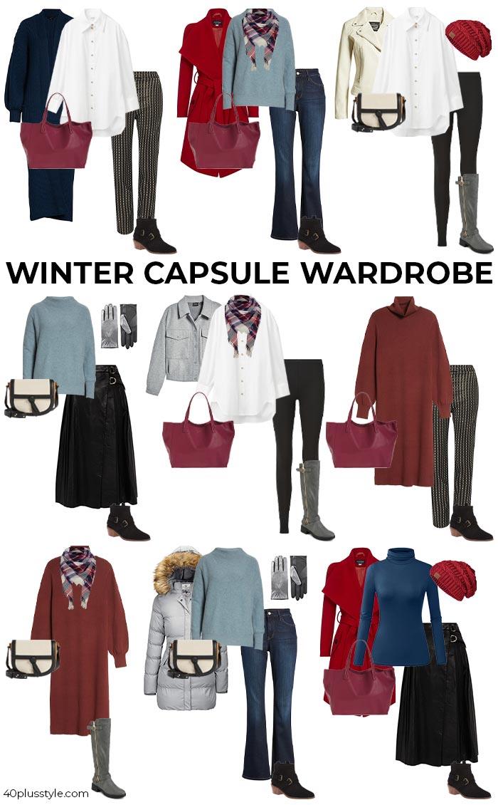 2021 winter essentials capsule wardrobe | 40plusstyle.com