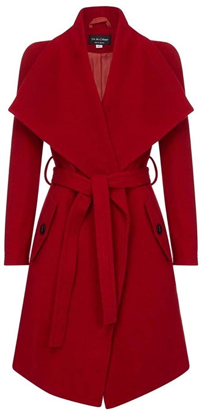 De La Creme Winter Wool Cashmere Wrap Coat | 40plusstyle.com