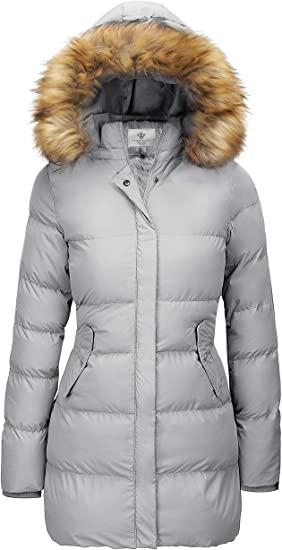 WenVen Winter Thicken Puffer Coat | 40plusstyle.com