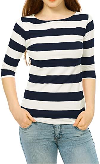 Allegra K boat neck tee | 40plusstyle.com