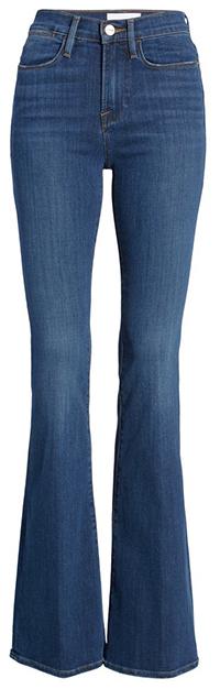 FRAME high waist flare jeans | 40plusstyle.com