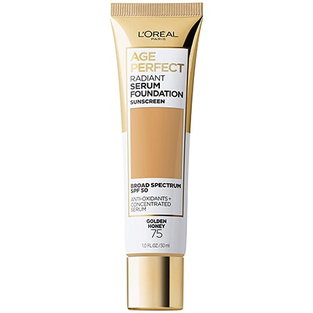 L'Oreal Paris Age Perfect Radiant Serum Foundation with SPF 50   40plusstyle.com