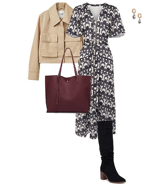 Wrap dress for the pear shape | 40plusstyle.com