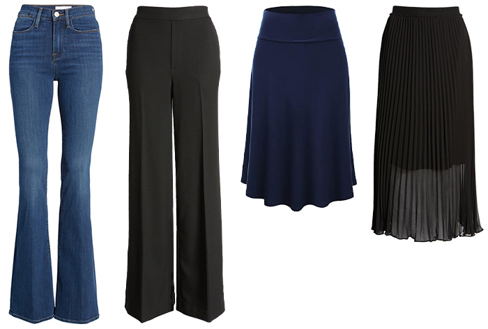 Best pants and skirts for the pear body type | 40plusstyle.com