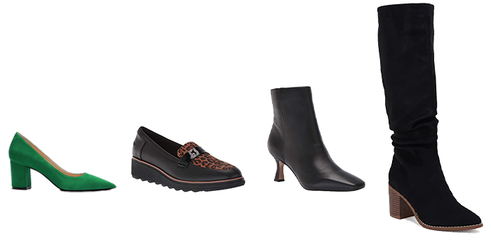 Shoes to go with pear shape outfits | 40plusstyle.com