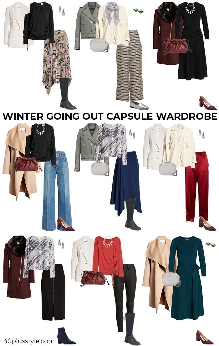 Kapselgarderobe zum Ausgehen im Winter |  40plusstyle.com